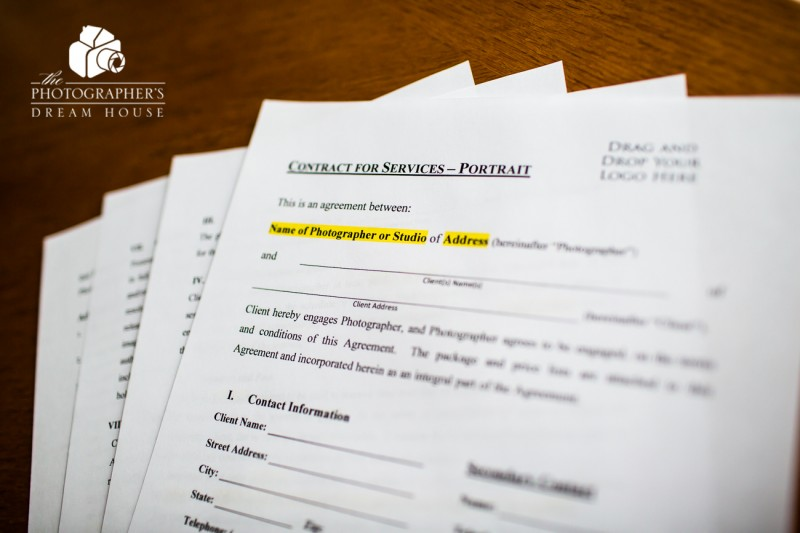 Portrait Photography Contract | The Photographer's Dream House