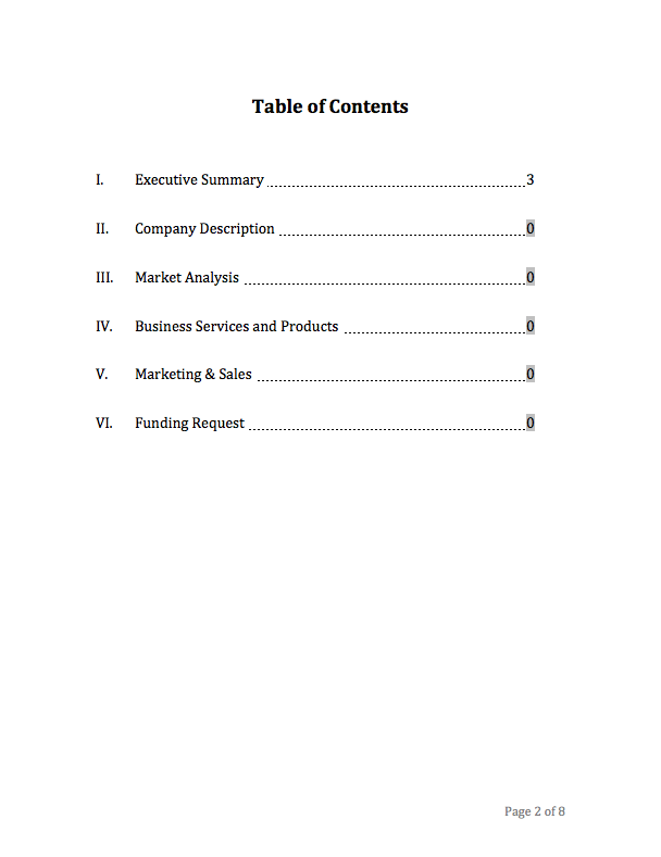 Business Plan Template - Photography business plan template