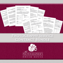 Photography Service Contract Bundle - The Photographer's Dream House