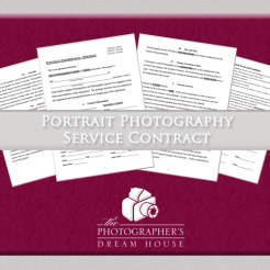 Portrait Photography Service Contract - The Photographer's Dream House