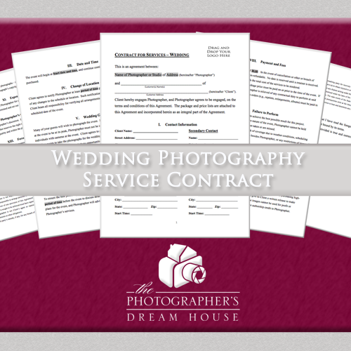 Wedding Photography Service Contract - The Photographer's Dream House